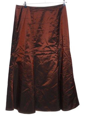 Swing Falda de tafetán rojo elegante