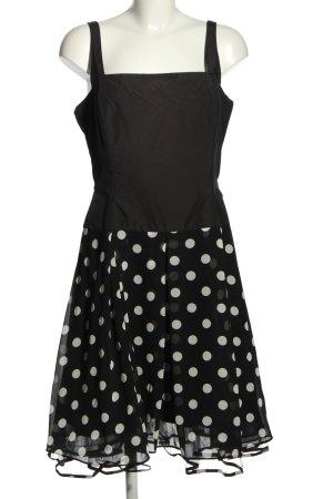 Swing Trägerkleid schwarz-weiß Punktemuster Casual-Look