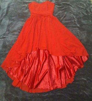 Swing Robe bas asymétrique rouge