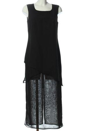 Swing Asymetryczna sukienka czarny Elegancki