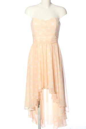 Swing Vokuhila-Kleid blassgelb-creme Punktemuster Casual-Look