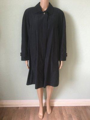 Heavy Pea Coat dark blue polyester
