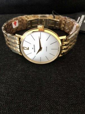 Reloj con pulsera metálica color oro-blanco