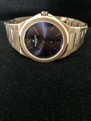 Swiss Made Manager Armbanduhr rosévergoldet