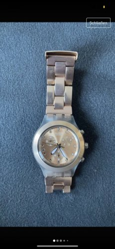 Swatch Watch With Metal Strap rose-gold-coloured