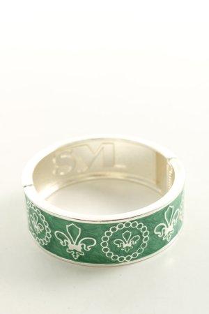SYL Armreif grün-weiß Motivdruck Elegant