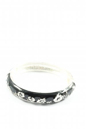 SYL Armlet black-silver-colored flower pattern casual look