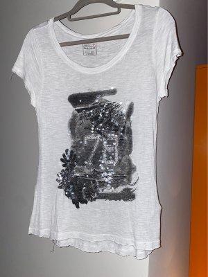 Sansibar sylt T-shirt imprimé gris clair-gris viscose