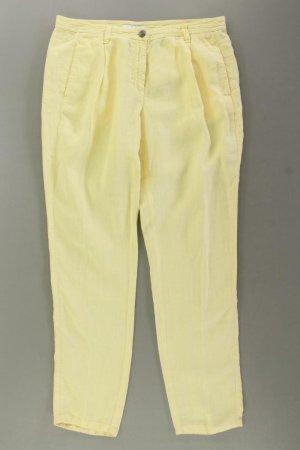 SYLVER Chinohose Größe 38 gelb aus Leinen