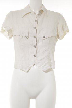 Sylvia Heise Linen Blouse oatmeal Textile application
