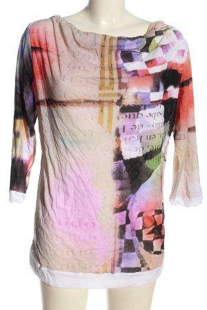 Sylvia Heise Blusa larga estampado con diseño abstracto look casual