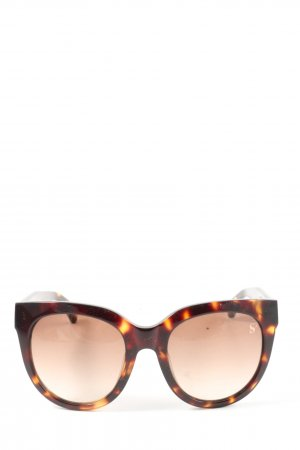 Sylvie Optics Okulary motylki brązowy-czarny W stylu casual