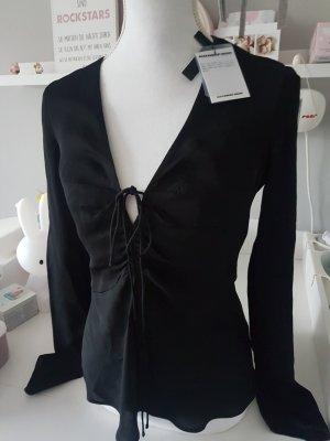 Alexander Wang Long Sleeve Blouse black viscose