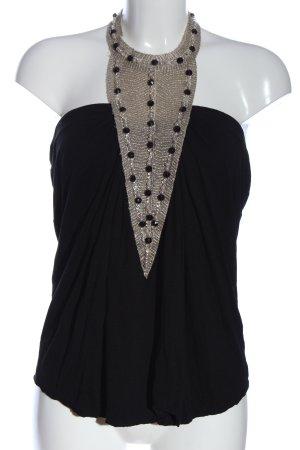 T-Bags Bluzka bez rękawów czarny-w kolorze białej wełny Elegancki