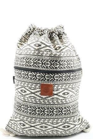T-Bags Borsellino bianco-nero stampa integrale stile casual