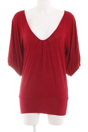T-Bags Długa koszulka czerwony W stylu casual