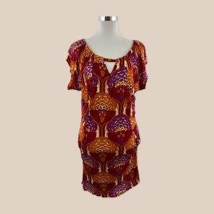 T-Bags Sukienka midi czerwony-pomarańczowy neonowy