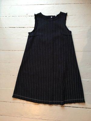 Alexander Wang A Line Dress dark blue-white cotton
