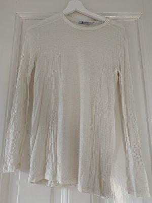 T by Alexander Wang Longsleeve Shirt Langarmshirt XS in Off-White Beige Top