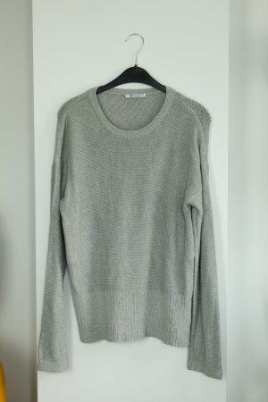 Alexander Wang Pull long gris clair coton