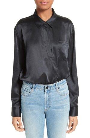 Alexander Wang Silk Blouse black silk
