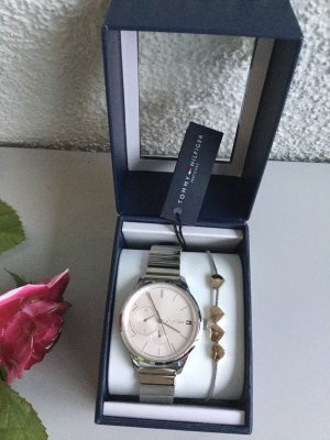 Tommy Hilfiger Watch With Metal Strap silver-colored-rose-gold-coloured
