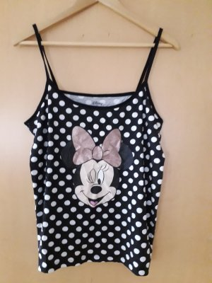 Disney Top con bretelline bianco-nero