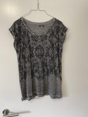 Yessica T-shirt szary-czarny