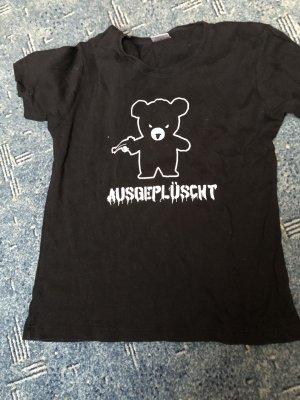 T-shirt imprimé blanc-noir