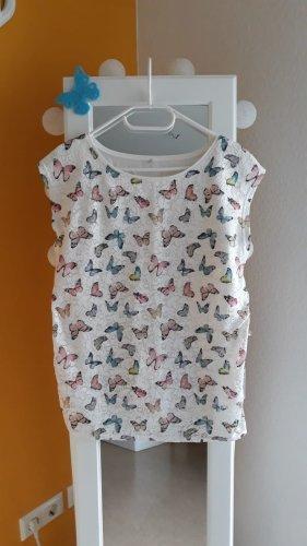 100% Fashion T-shirt biały-różowy