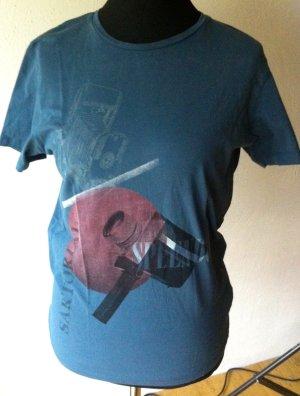Jack & Jones Print Shirt cornflower blue cotton