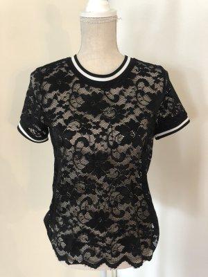 Pigalle Camisa de malla negro-blanco