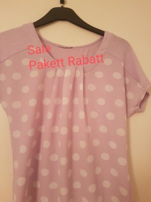 Camiseta blanco-lila