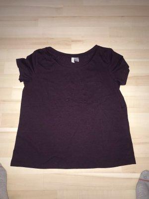 H&M T-shirt czerwona jeżyna