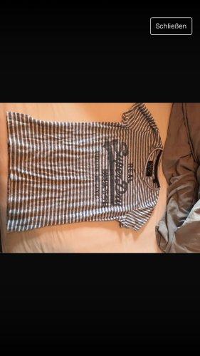 Superdry Sweatshirt blanc-bleu acier