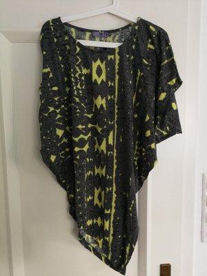 AJC Koszulka oversize szary-żółty neonowy