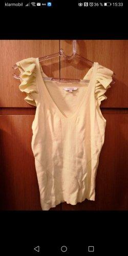 keine Camisa con cuello V amarillo