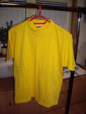 Basic T-shirt giallo Cotone