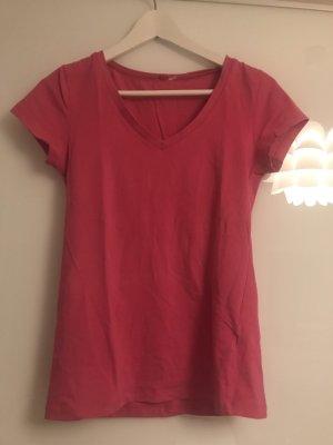 T-shirt rouge framboise-magenta