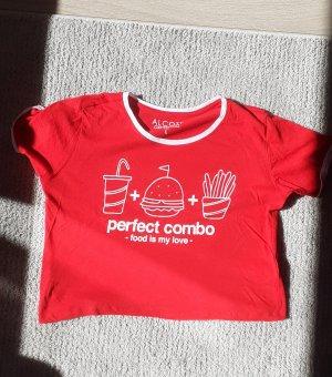Alcott T-shirt blanc-rouge