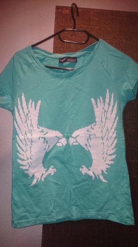 Arizona T-shirt turquoise-blanc coton