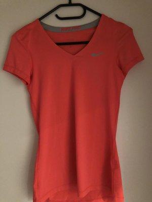 Nike Camisa deportiva rojo-naranja neón