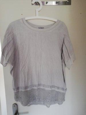 Koszulka oversize srebrny-szary