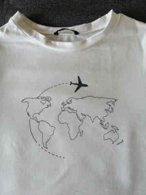 Shine Print Shirt white-black