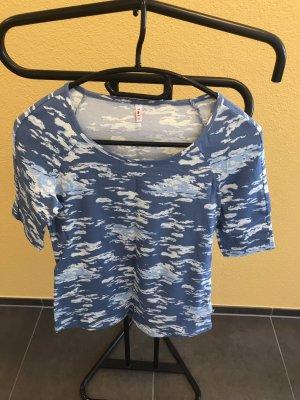 Blutgeschwister T-shirt azzurro-bianco