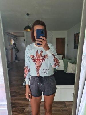 SheIn T-Shirt light brown-azure