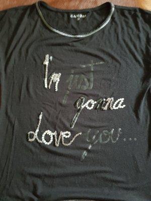 Canda T-shirt noir-argenté