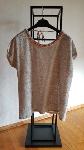 Comma T-Shirt light grey-oatmeal polyester