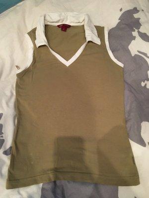 H&M Basic Shirt khaki-white