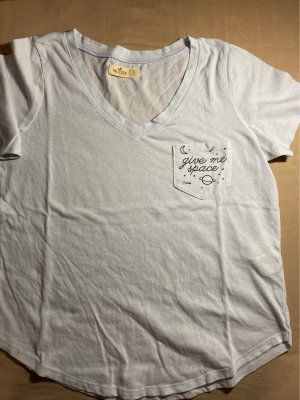 Hollister T-Shirt light blue-slate-gray